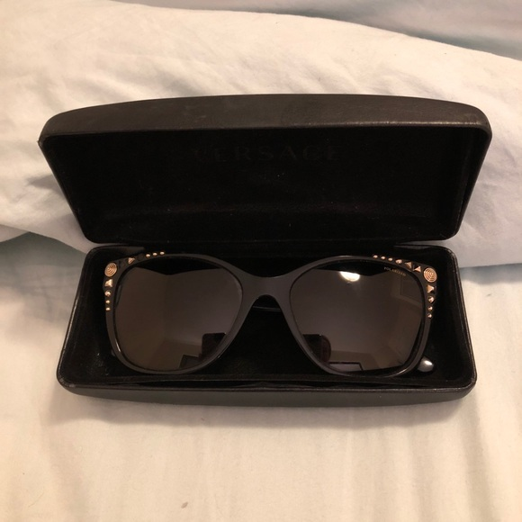 2a27d7bddad1 Versace Studded Wayfarer Sunglasses. M 5b6a76890e3b8631f1a6a719. Other  Accessories ...